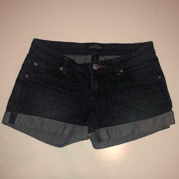 Jane Doe Pants - Jane Doe Hemmed Cuffed Jean Shorts Size 9 Juniors